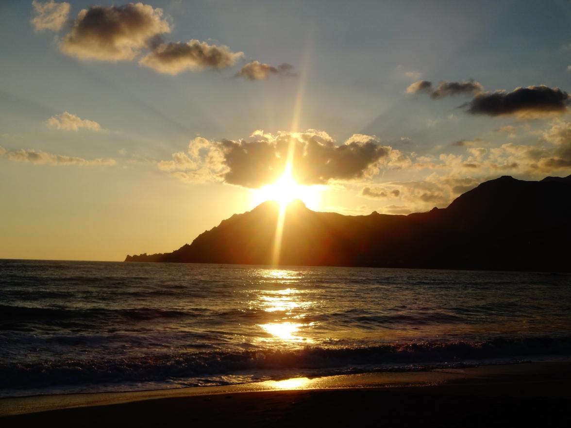 Un sublime coucher de soleil partagé en petit comité cette fois...