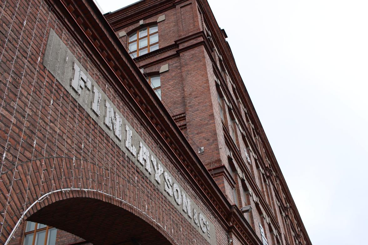 """La fabrique Finlayson, ou """"ville usine""""."""